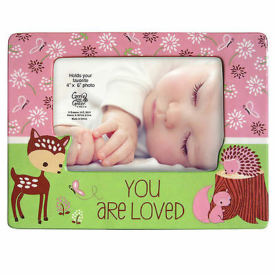 Enesco Inspirations Gregg 4×6 Baby Girl Pink Loved Fawn Photo Frame 4049597