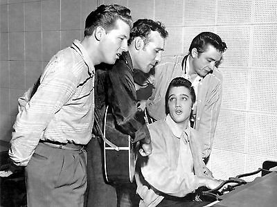 Elvis Presley Johnny Cash Jerry Lee Carl Perkins Sun Studio 8x10 Picture Print