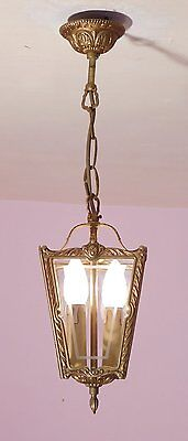 Gorgeous Vintage French Porch/Hall Lantern in Bronze