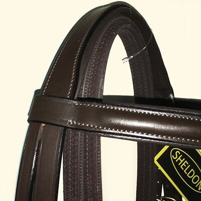 Classic Padded Comfort Bridle Set with rubber reins (  horse equestrian pony )