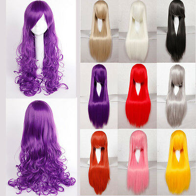 da donna UK Cosplay Anime Parrucca Capelli Lunghi Completo Parrucche