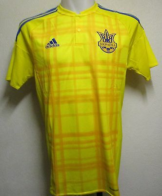 Ukraine 2015/16 S/s Home Shirt By Adidas Adults Size Medium Brand New With Tags