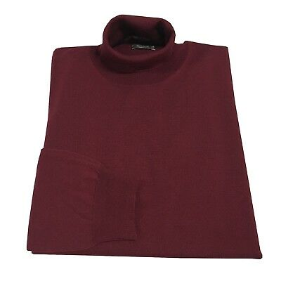 FERRANTE polo neck man burgundy 100% lana MADE IN ITALY
