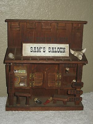 Hand-Made, Hand-Painted Wood SAM'S Last Chance SALOON