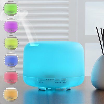 Innogear Aroma Essential Oil Diffuser 500ml Ultrasonic Air Humidifier 4 Settings