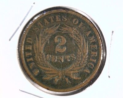 1864 Two Cents Coin Large Motto
