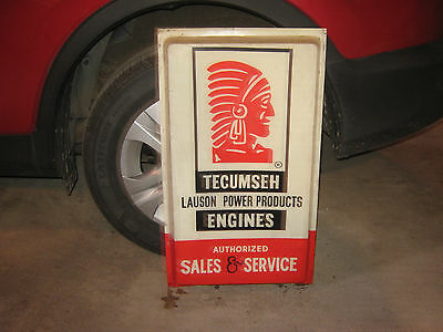 Tecumseh Engines Authorized Sales and Service plastic lighted side sign