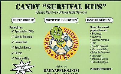 """Candy """"Survival Kits"""" Online Business/Brand/Website(DailyApples.com) for Sale"""