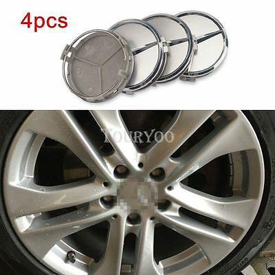 4x 75MM Car Rim Wheel Center Hub Cap Cover Emblem For Mercedes Benz w211 w203