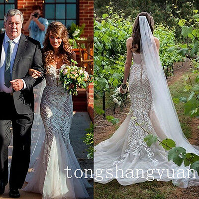 Unique Lace Mermaid Bridal Gowns Sweetheart White Ivory Trumpet Wedding Dresses