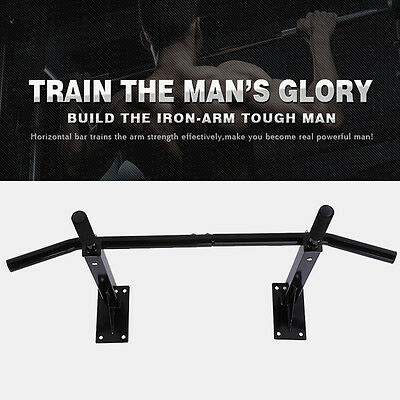 Gym Doorway Pull Up Chin Up Push Up Bars Wall Mounted Body Fitness Workout Home