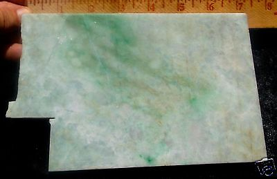 Jadeite Giant Unpolished Multi Color Thick Slab 926 Grams Or 2 Pounds S. E. Asia