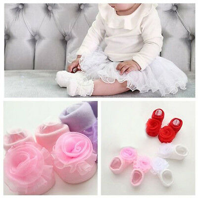 Baby Girl NewBorn Princess Lace Flowers Infant Toddler Soft Cotton Sock Lovely