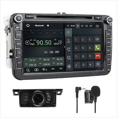 "8"" Android 7.1 DAB+ DVD GPS Sat Nav CD Player Radio For VW Golf V SEAT PASSAT"