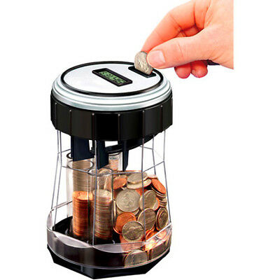 NEW EZ Count Money Jar Commercial Electronic Digital Coin Counter Sorter Machine