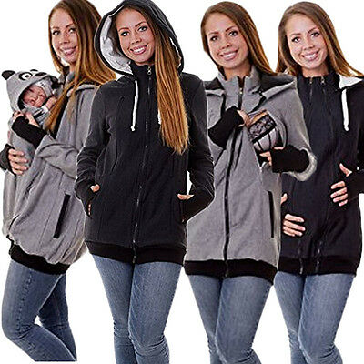 4  in 1 Baby Carrier Jacket Zipper Womens Outerwear Coat Hoodie Sweats Pullover