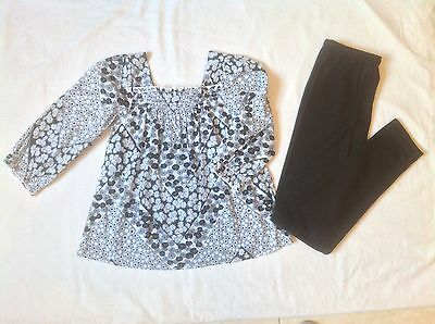 Girls Leggings And Tunic Top Age 9 Years Bnwot