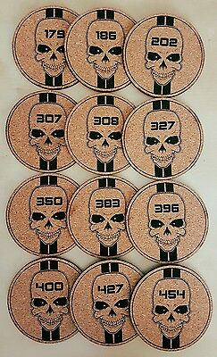 12 engraved drink cork coasters • Cubic Inches Unboxed • Made in Australia