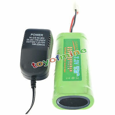 1x 7.2V 3800mAh batterie Ni-MH rechargeable + chargeur