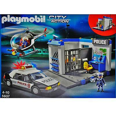 playmobil 5607 polizei set polizei hubschrauber. Black Bedroom Furniture Sets. Home Design Ideas