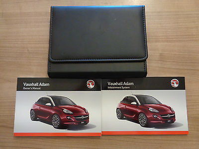 Vauxhall Adam Owners Handbook/Manual and Wallet 14-16