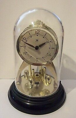 Small German Domed Clock With Hidden Disc Pendulum