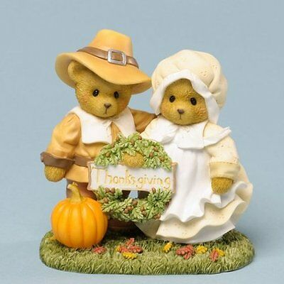 Cherished Teddies Thankful For Lifes Blessing Thanksgiving Figurine 4034590