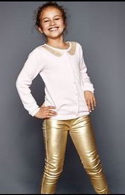 Girl's Soft Metallic Jeggings By Emma Bunton Age 6-7 Brand New In Pack