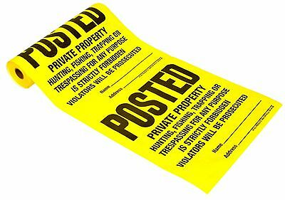 Hy-Ko TSR-100 100 Count Posted Sign Roll 1  Patio, Lawn & Garden  NEW