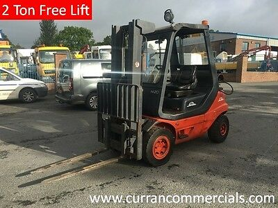 1997 Linde H20 2 Ton Gas Forklift 3 Free Lift Masts
