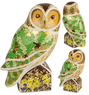 New Royal Crown Derby 1st Quality Woodland Owl Paperweight with Gold Stopper
