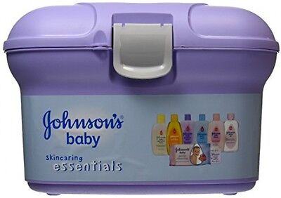 Johnsons Baby Essential Gift Gently Protects Cleanses Plastic Bath Caddy Set