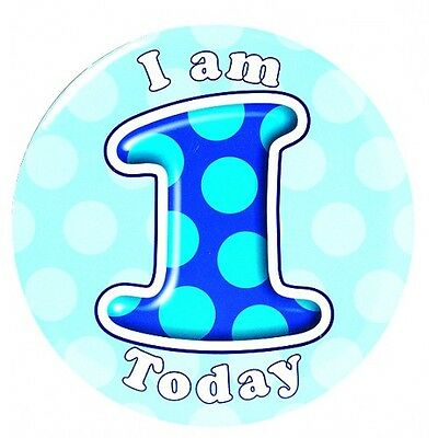 Birthday Badges 5 cm Ages 1 to 13 Boy Select from Drop down menu for age
