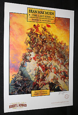 Bran Mak Morn: The Last King Print Mountain of Bodies (NM) Signed by Gary Dianni