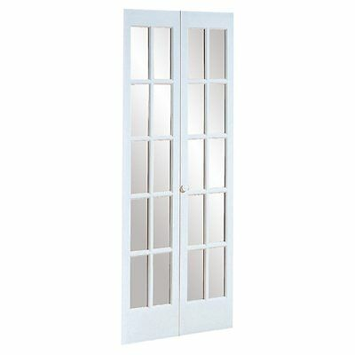 527 Traditional Divided Glass 36 x 80.5-inch Prefinished White Bifold Door
