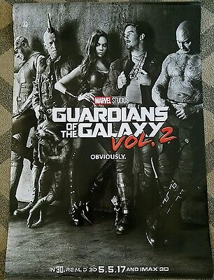 Guardians of the Galaxy Vol 2 27x40 Double Sided Movie Theater Teaser Poster