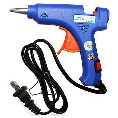 Blue Mini Heating Hot Melt Glue Crafts Repair Tools