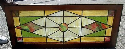 Antique Stained Glass Window Colorful Design Excellent Arts & Crafts  # 644