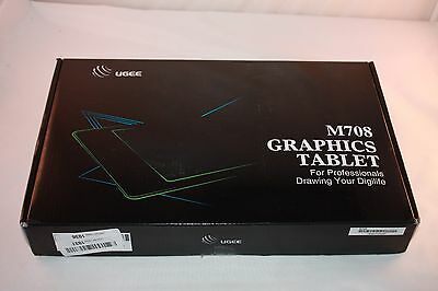 Ugee M708 Art Design Graphics Drawing Tablet with 10x6 Inch Active Area -Black