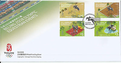 Hong Kong 2008 Beijing Olympic Equestrian Events set on FDC