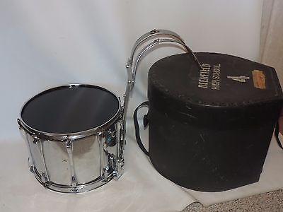 "Vintage Ludwig 14"" Chrome Over Wood Snare Drum with Carrier and Case #1857757"