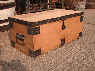 Vintage Strong  Box / Industrial Chest