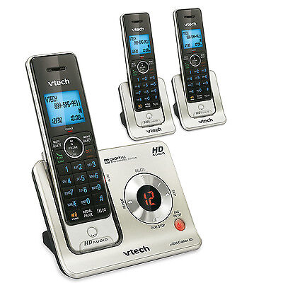 Vtech Cordless Phone System with 3-Handsets, Answering Machine (LS6425-3)