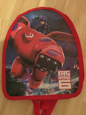 Big Hero 6 Backpack Rucksack Red Great For Little Ones New & Sealed Xmas