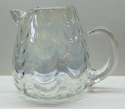 West Virginia Glass Crystal IRIDESCENT LUSTER Pitcher / Jug EXCELLENT CONDITION
