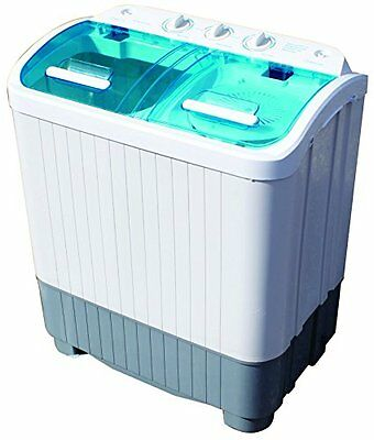 Portable Washing Machine Camping Caravan Student Home Twin Tub DELUXE