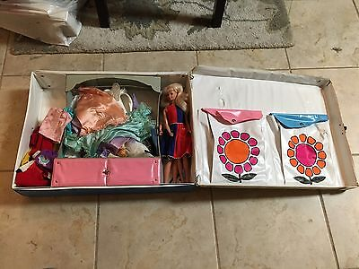 1968 Barbie DOUBLE DOLL CASE Loaded with stuff