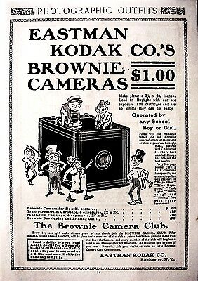 1900 Eastman Kodak Brownie camera Ad original  from 1900