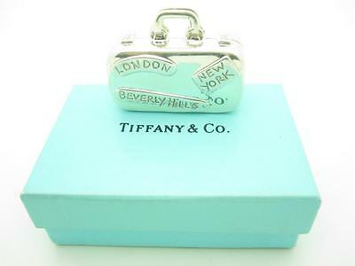 Tiffany & Co. Sterling Silver Travel Suitcase Luggage Pill Box