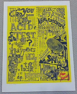 Grateful Dead - Can You Pass The Acid Test - Kesey Signed Artrock Print